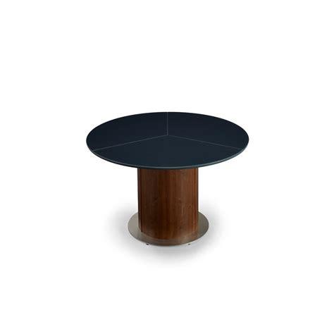 Glass Top Circular Dining Table Skovby Sm32 Circular Extending Dining Table With Glossy Glass Top