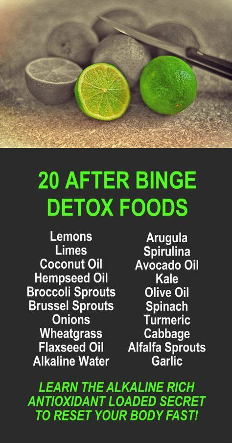 Kangen Water Detox Effect by 20 After Binge Detox Foods Learn About Alkaline Rich