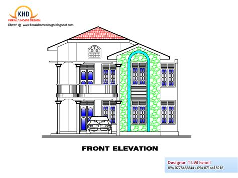 house plan and elevation 2300 square feet free house plan and elevation kerala home design and floor plans