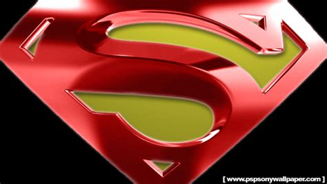 psp themes superman superman the movie logo psp wallpapers