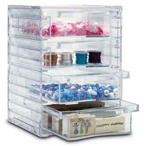 four drawer acrylic craft organizer organization store