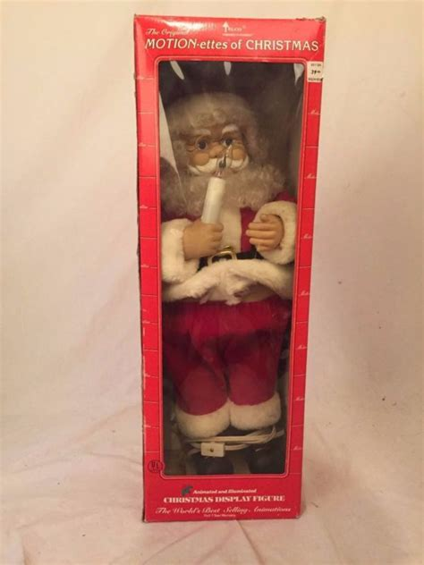 motion ettes of christmas figures telco santa claus shop collectibles daily