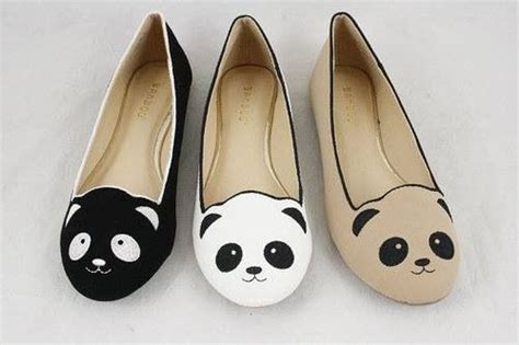 panda shoes panda flats shoes foot candy