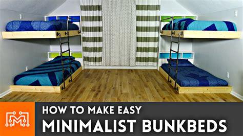 easy minimalistic bunkbeds     stuff