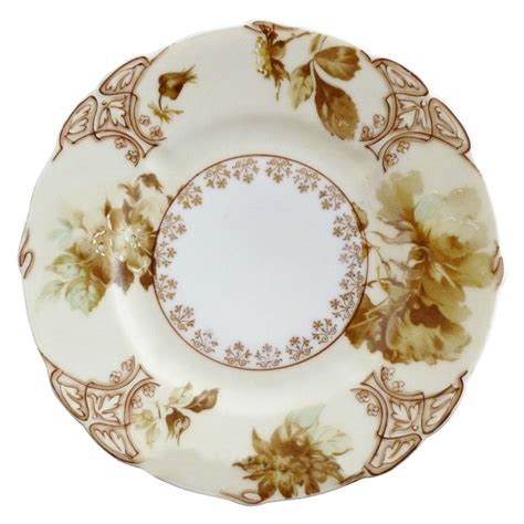 vintage porcelain plate ivory xi hermann ohme from