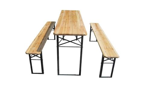 trestle table and bench hire wooden folding trestle table bench set lizard audio ltd