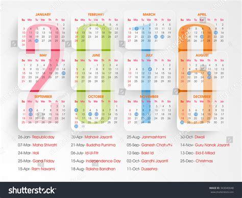 new year 2016 list stylish 2016 yearly calendar design holidays stock vector