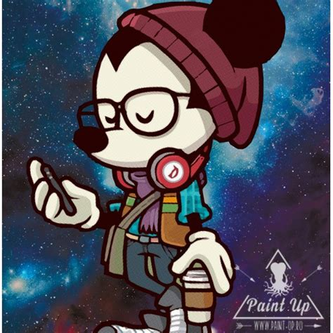 imagenes hipster mickey модная картина постер на холсте mickey mouse hipster