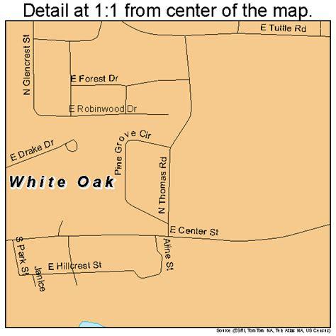 map of oak texas white oak texas map 4878436