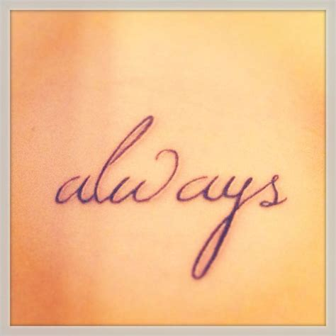 always harry potter tattoo my harry potter always rib tattoos