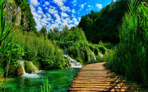 beautiful site plitvice lakes national park croatia southeast europe