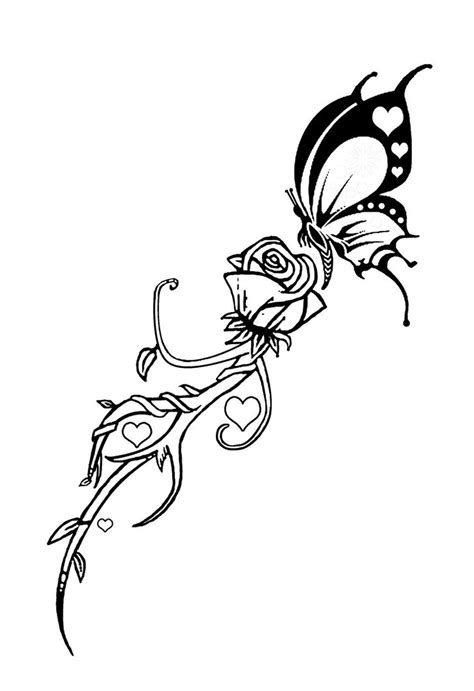 tattoos of roses and butterflies butterfly and by dvco on deviantart