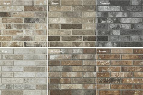tiles unlimited s cutting edge brick look tile adds a touch of flair to your space