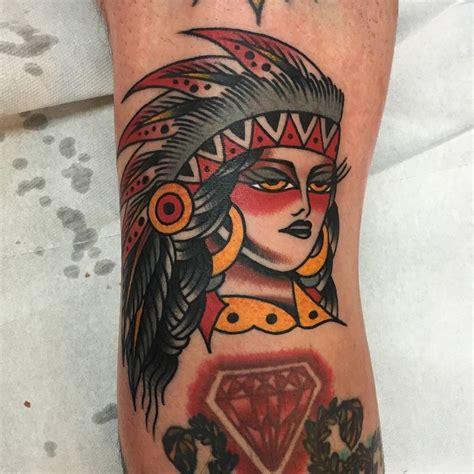 old school girl tattoo old school girl indian tattoo by luke jinks best tattoo