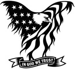 American Flag On Barn Wood Usa Flag Eagle In God We Trust Sign Plasma Laser Dxf