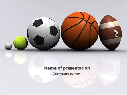 Sport Balls Powerpoint Template Backgrounds 08071 Poweredtemplate Com Free Sports Powerpoint Templates