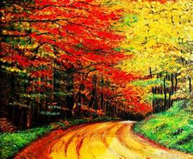 colorful tree colorful tree leaves painting by nelson