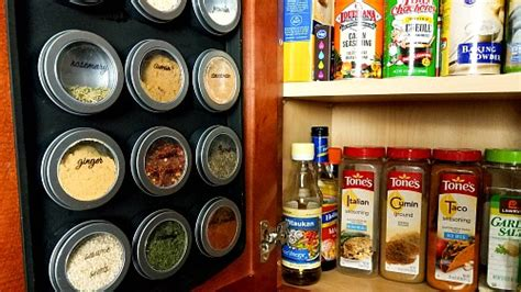 diy spice rack dollar store diy magnetic dollar store spice rack with free printable spice jar labels