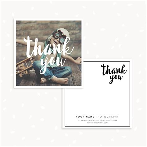 Photographer Thank You Card Template by Photography Thank You Card Template Strawberry Kit