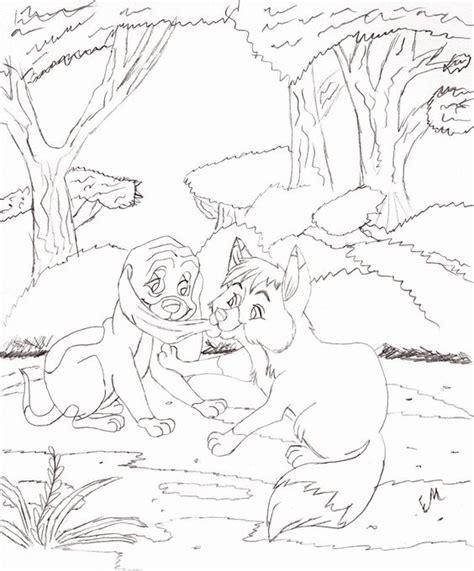 Fox And The Hound Coloring Pages Coloring Home The Fox And The Hound Coloring Pages