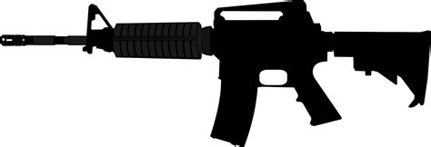 M16 Wallpaper Sticker Rings F0217 assault rifle silhouette