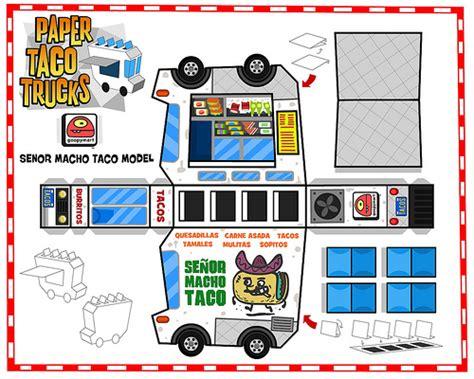 Papercraft Food Templates - 187 papercraft taco trucks big plastic