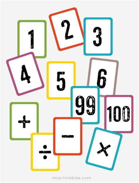 printable math index cards free printable math flash cards numbers 1 to 100 math