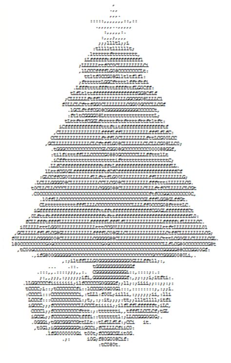 christmas text art gallery created from letters and other