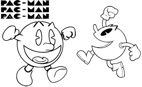 pac coloring page best printable pacman coloring page