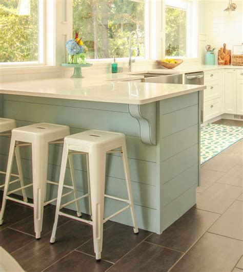 kitchen island with corbels update a plain kitchen island or peninsula with planks and