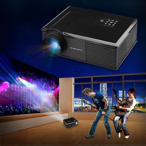 Home Theater Multimedia Visilux 3200 lumens 3d home theater multimedia usb hdmi 1080p hd lcd led projector ebay