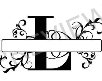 what is a slit l regal split letter etsy