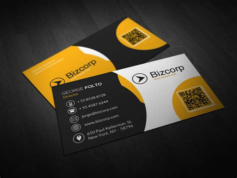 Free Sided Business Card Template by Sided Professional Business Card Design