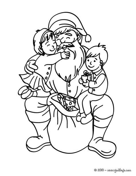 imagenes de santa claus para niños dibujos para colorear santa claus con ni 241 os es hellokids com