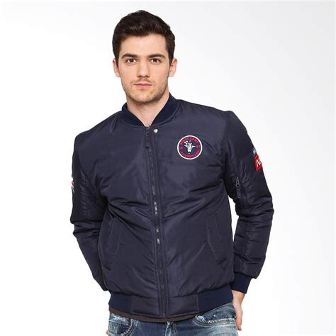 Nasa Bomber Navy jual osella patch label nasa jacket bomber navy