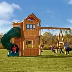 Outdoor Swing Sets Swing N Slide Durango Swing Set Pb 8162 Contemporary