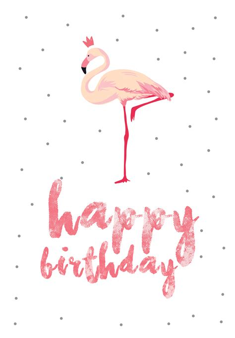 foto card template free flamingo birthday free printable birthday card