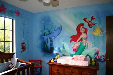 little mermaid room ideas murals jason lukowicz