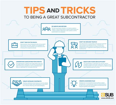 home tips and tricks tips and tricks to being a great subcontractor esub