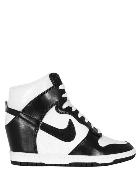 Black Simple Heels 5cm nike dunk sky hi womens black and white leather trainers with a concealed 6 5cm wedge heel