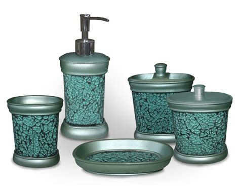 Decorative Bathroom Accessories Sets Unique Turquoise Bathroom Accessories For Decoration Lighthouseshoppe Decorating