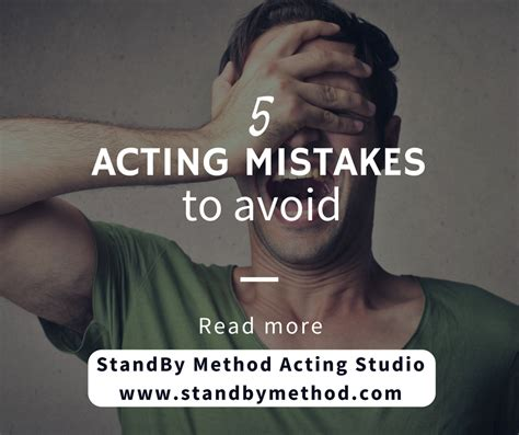5 Mistakes To Avoid by 5 Acting Mistakes To Avoid Standby Method Acting Studio