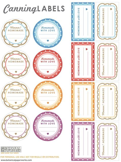 printable labels on pinterest love the cute patterns and great colors of these free