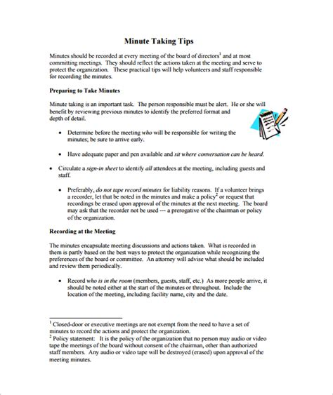 meeting minutes template 38 download free documents in