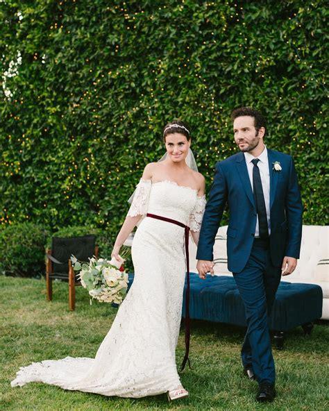 Idina Menzel's Carolina Herrera Wedding Dress   POPSUGAR Fashion