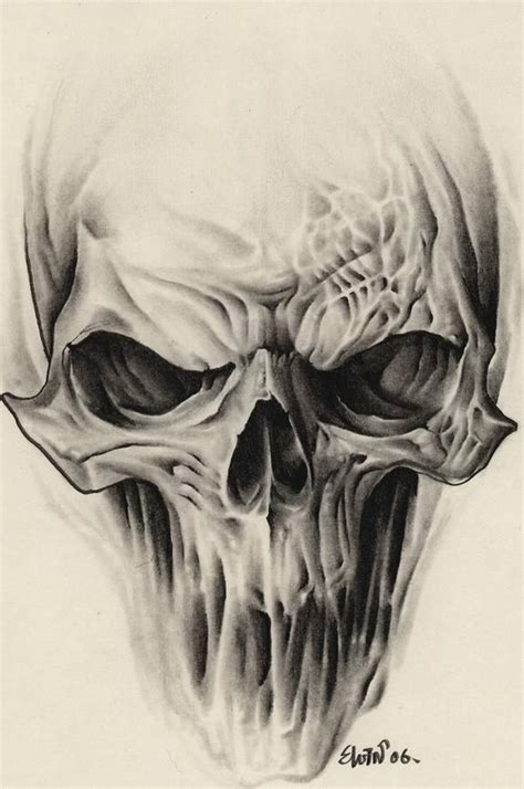alien skull tattoo design pinteres