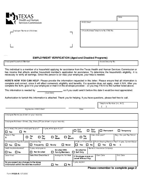Employment Verification Letter Dhs Best Photos Of Printable Employee Income Verification Form Verification Of Employment Loss Of