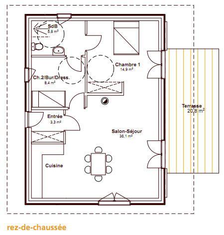 t3 combien de chambre une maison en bois pour moins de 100 000