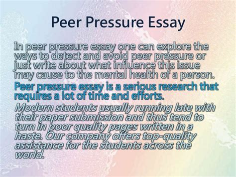 peer pressure research paper college essays college application essays peer pressure