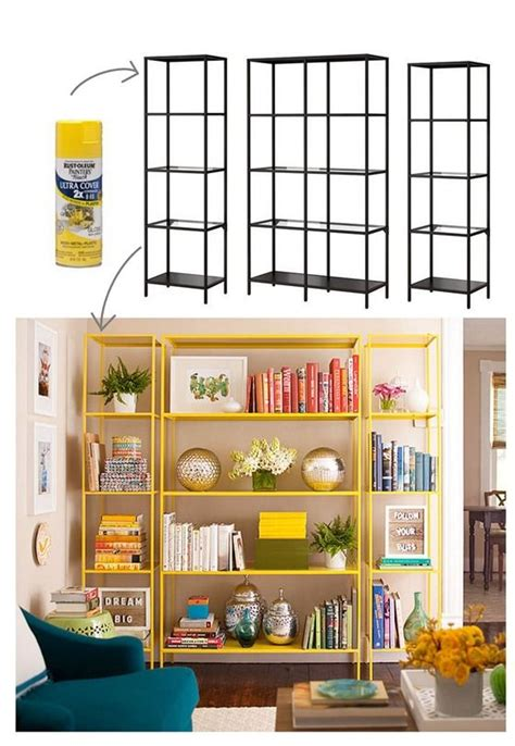 spray paint bookshelf best 25 metal shelves ideas on pinterest